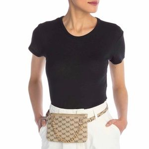 Michael Kors Faux Leather Belt Bag Size L
